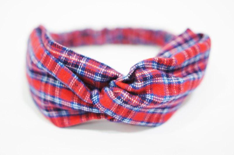 (秋冬)蘇格蘭格子 / 手工鬆緊髮帶