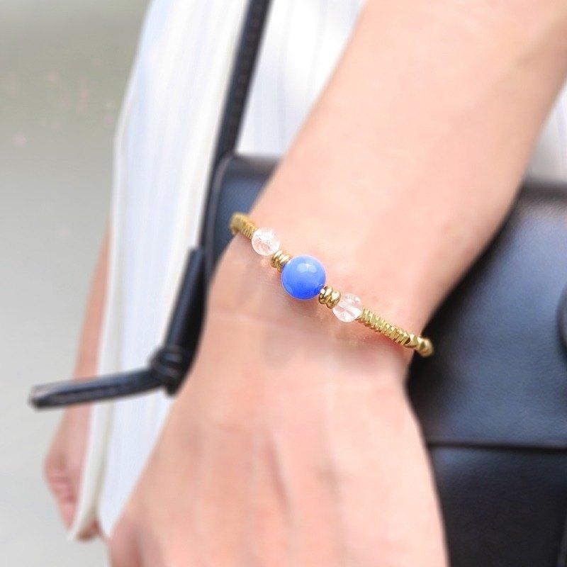 Trident ◆ 優雅的寧靜 - 天然石 / 黃銅 / 手鍊 手環 禮物客製設計