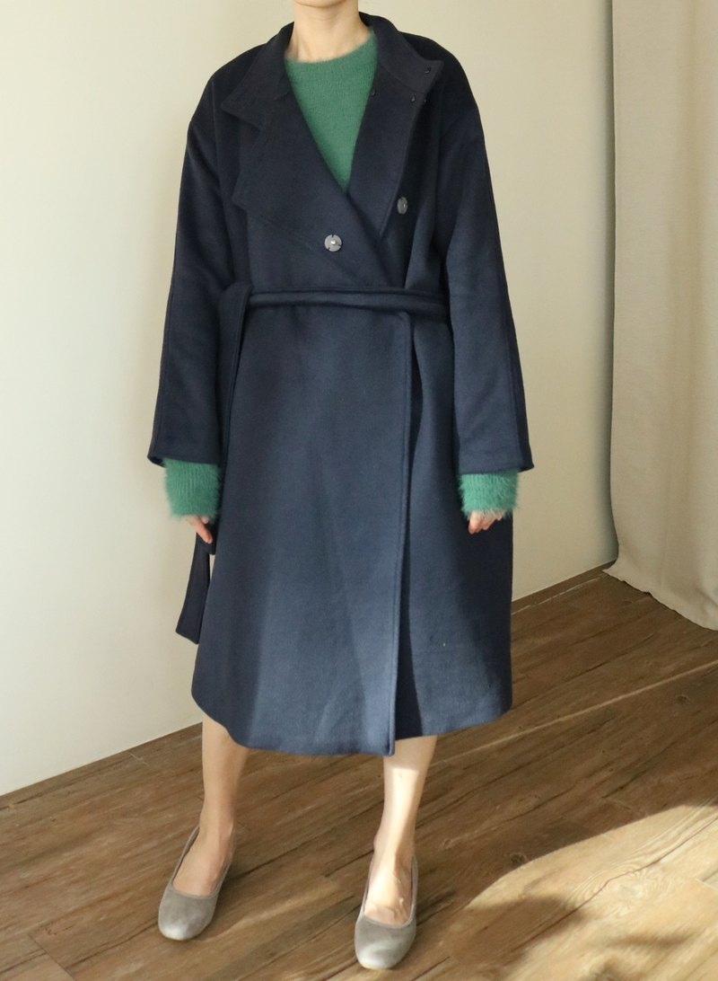 Rennes Coat 斜領式喀什米爾羊毛大衣(可訂做其他顏色)