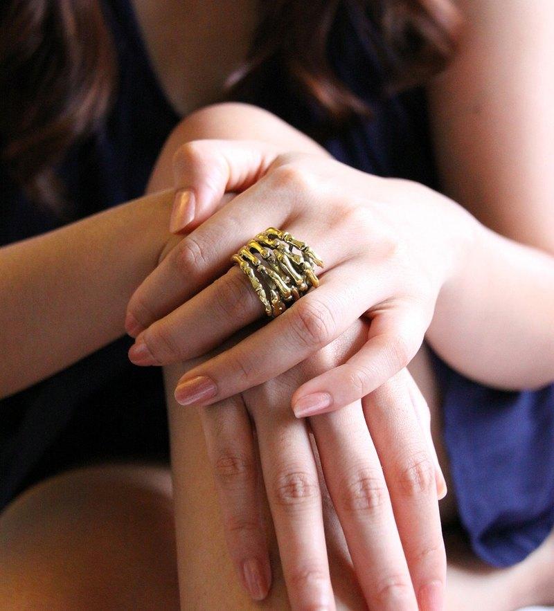 """""""手"""" 骷髏戒指"""