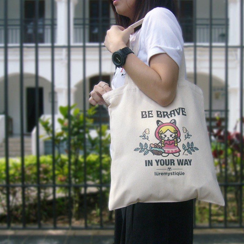 Lure Mystique - Karina 小紅帽 原創直式帆布包 帆布袋 單肩包 購物袋