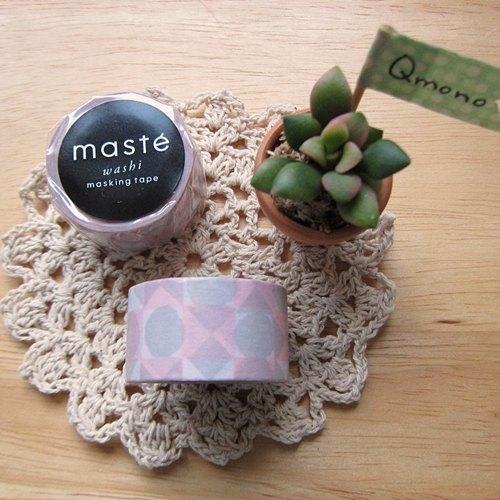 maste Masking Tape 和紙膠帶 Multi【方塊-粉 (MST-MKT20-PK)】