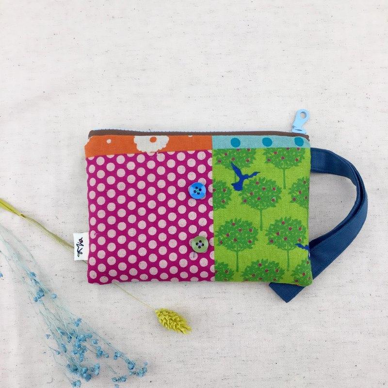 繽紛拼接風格—手拿零錢包/化妝包/雜物袋—輕便實用