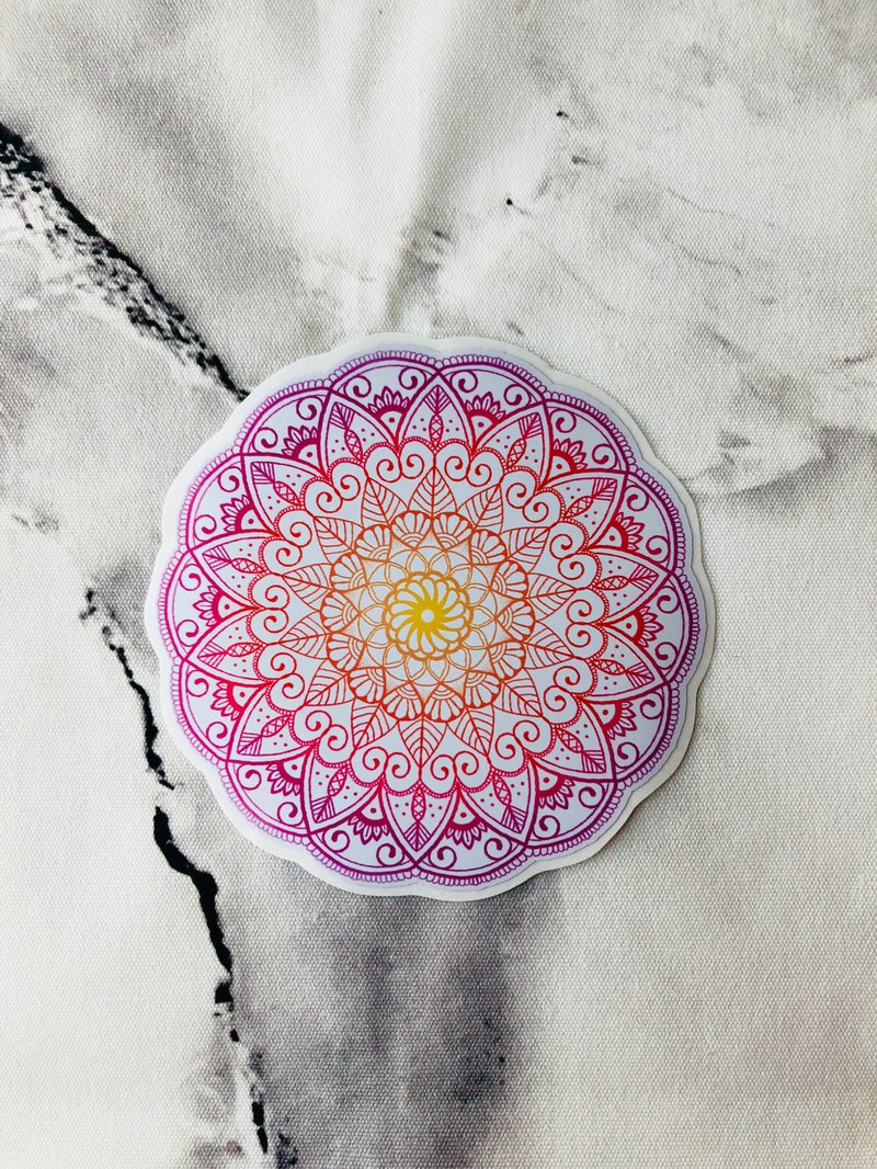 (單一售) 手繪 Mandala Henna 防水 行李箱 貼紙  曼陀羅 漢娜