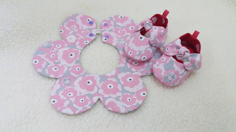 塗鴉繽紛花女孩系  寶寶彌月禮盒兩件組