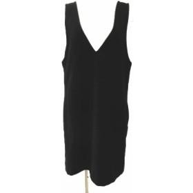 【中古】メルチェリア ドレステリア Merceria Dressterior ジャンパースカート ワンピース Vネック 黒 レディース