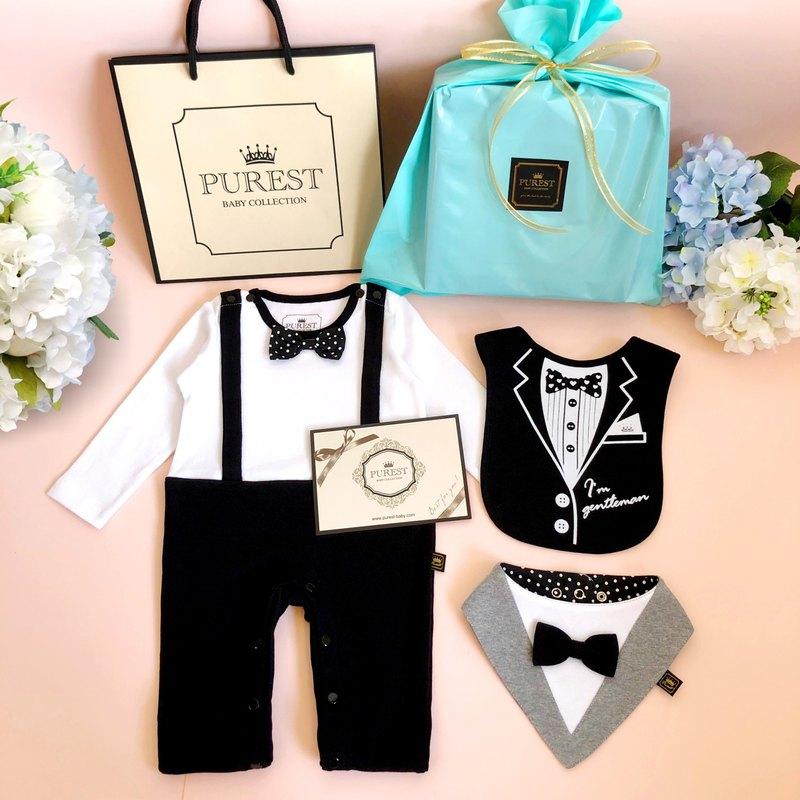 英倫小王子 長袖款 福袋 寶寶彌月禮盒組 嬰兒 新生兒禮物 送禮