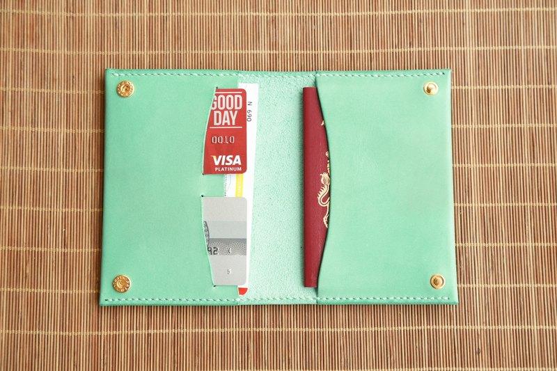 植鞣真皮簡約護照夾, 旅行護照套, 材料包, 完成品