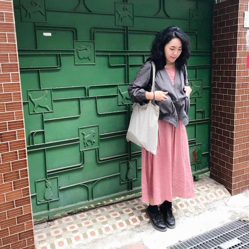 【洋裝07】傘袖/無袖背心細條鬆緊襯裙/可單穿