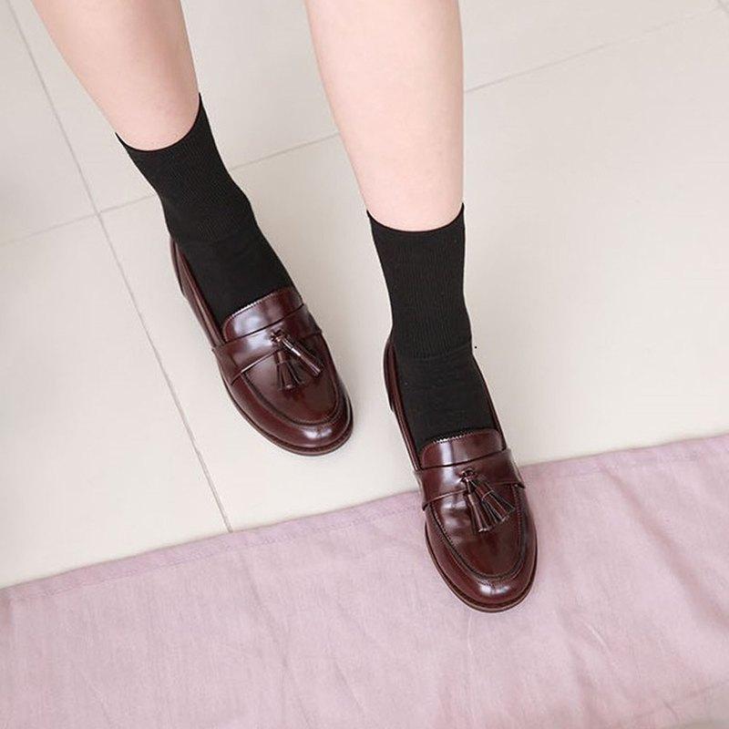 PRE-ORDER – 韓國人手製 MACMOC Movin (WINE) 流蘇樂福鞋