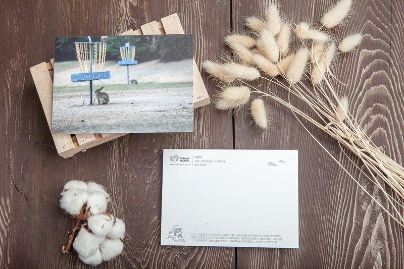 兔子攝影明信片- 等待