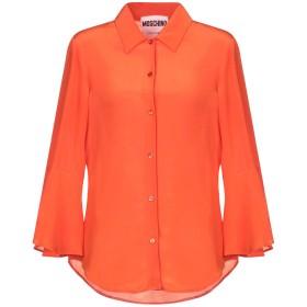 《セール開催中》MOSCHINO レディース シャツ オレンジ 42 100% シルク