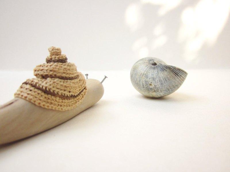 木製蝸牛,木雕,微型藝術,木雕,家居裝飾,再生木材