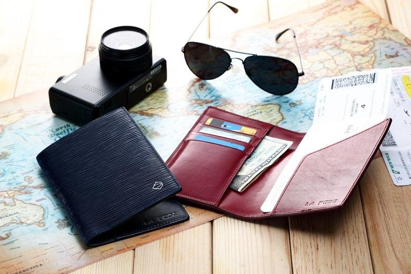 【La Fede】AQUA防盜護照夾*2  限時優惠  客製(純烙印)