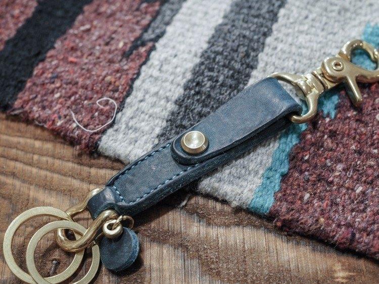 Key Chain 皮革鑰匙圈- 藍