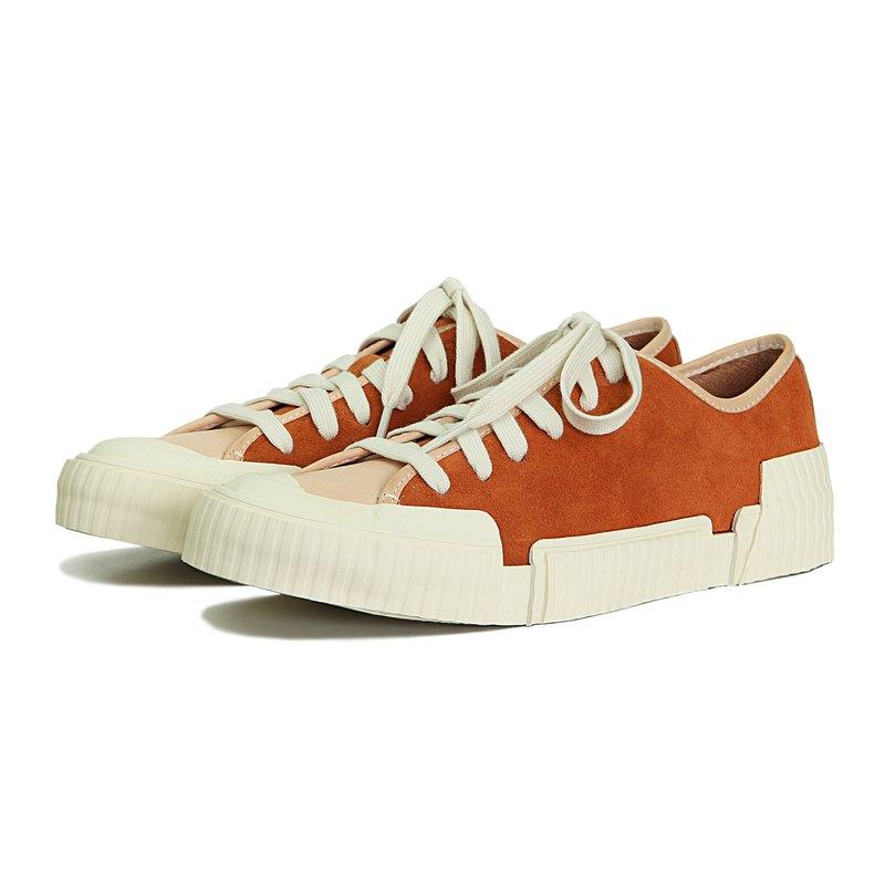 Sweet Villians M1204 手工真皮休閒運動鞋 橘色
