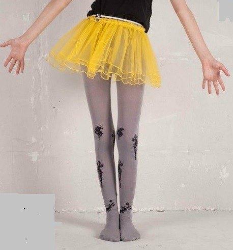 灰色芭蕾舞伶褲襪