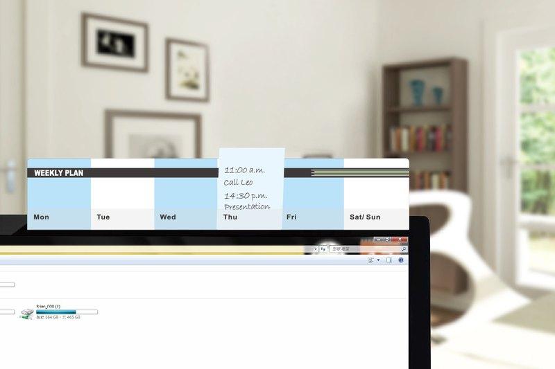 ◆隨時收納混亂的紙張 , 不怕被風吹走或壓在文件夾裡面而找不到啦! ◆節省桌面空間 , 提升工作效率!!! ◆週計畫留言備忘板-粉藍, 貼心幫你夾住重要的MEMO與照片。