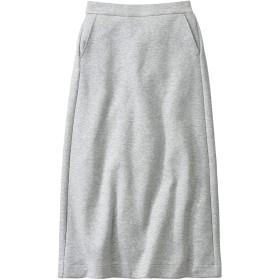 [エディー・バウアー] Eddie Bauer ダブルニットロングスカート ロングスカート レディース (ヘザーグレー PXL)
