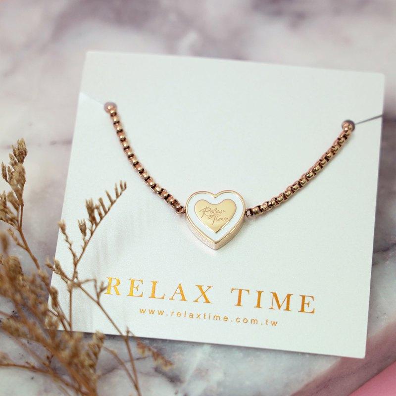 RELAX TIME LOVE愛戀手鍊 玫瑰金色ZRCC-21