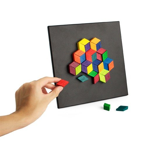 木製彩色浮雕playableART*Magnet Relief - Diamond 36菱形