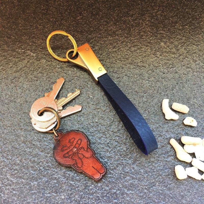 軒窗革藝-手工皮革-鑰匙圈 活動環 手作 植鞣 鉻鞣 訂製 文創 文青