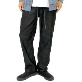 イージーパンツ メンズ 大きいサイズ 伸びる メガストレッチ 裏起毛 ストレッチ チノパンツ 5L カモフラ(90)