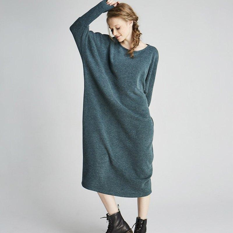 蝙蝠縮袖針織長洋(1702DS01GN-S/M)