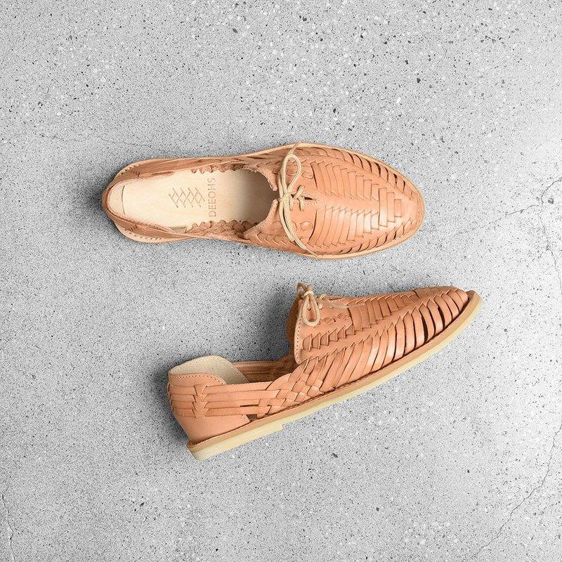 墨西哥手工編織涼鞋 - 鞋帶 / Vintage 古著