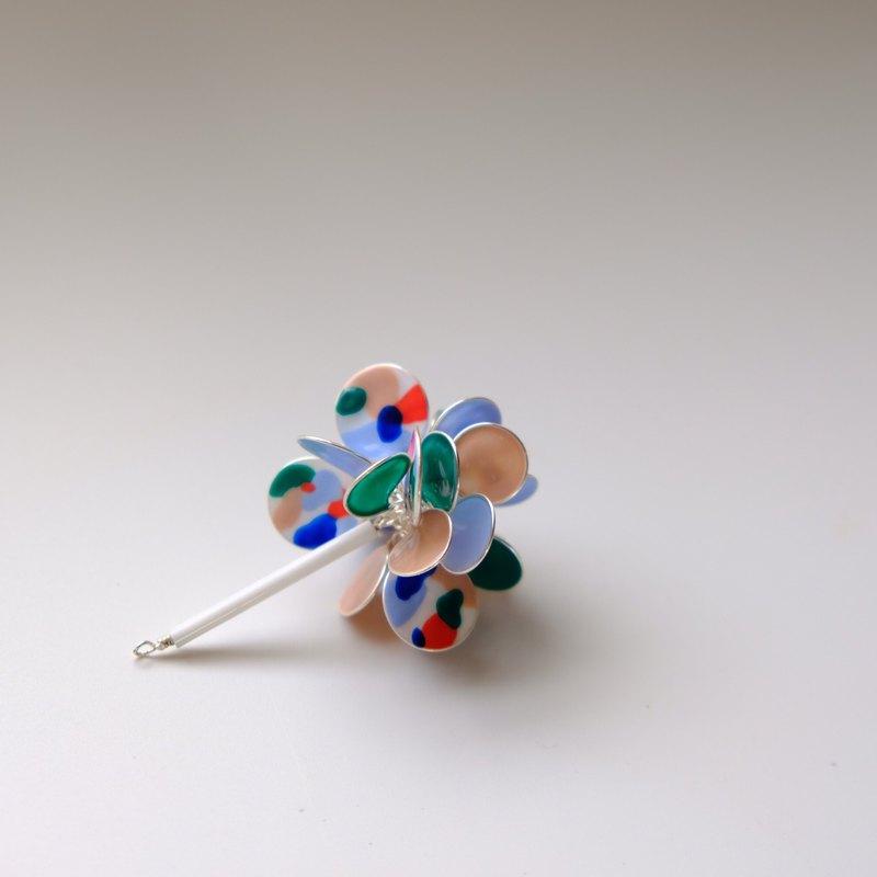 <野餐>單邊造型手工設計樹脂耳環/垂吊款/earring/accessories