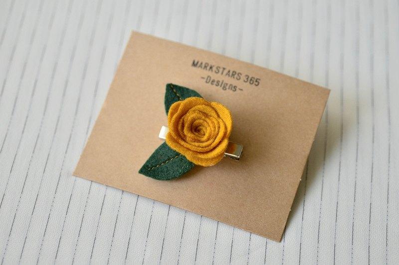 玫瑰仙子髮夾 - 薑黃