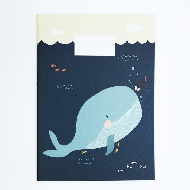 A5 筆記本 - 故事之鯨