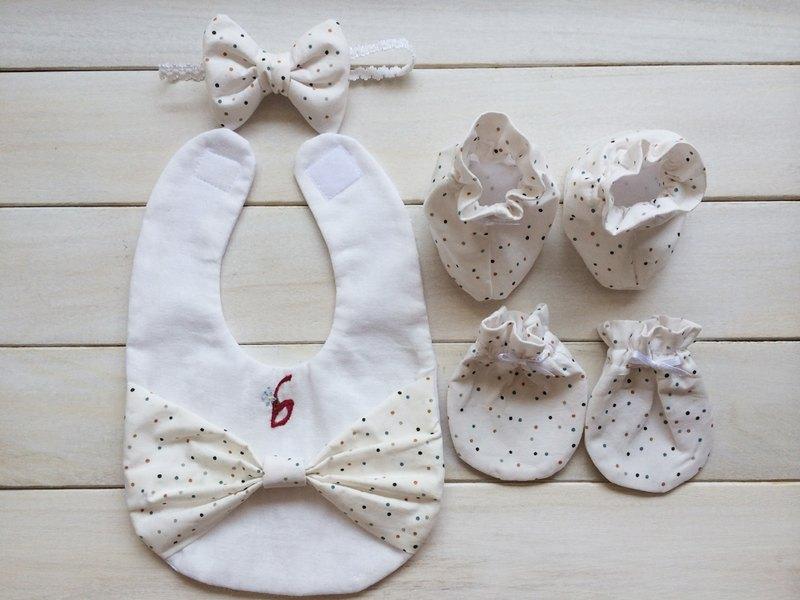 MIT手作 初生純白女寶寶 滿月彌月禮物 附包裝