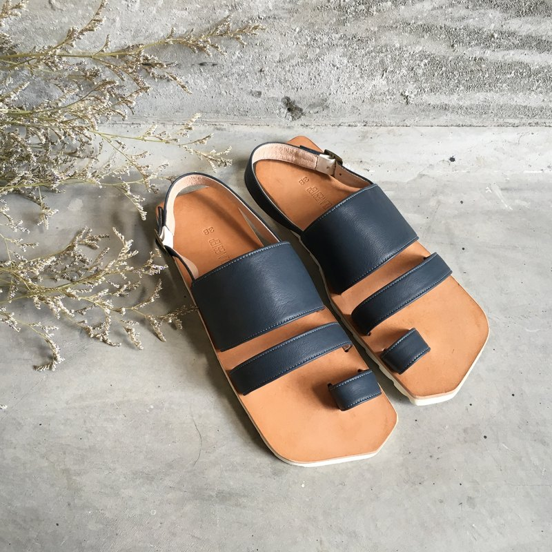 CLAVESTEP XIII Sandals - 真皮涼鞋-十三-深藍色