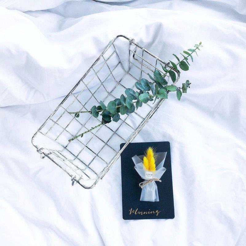 婚禮小物 兔尾草 乾花 西洋書法生日卡