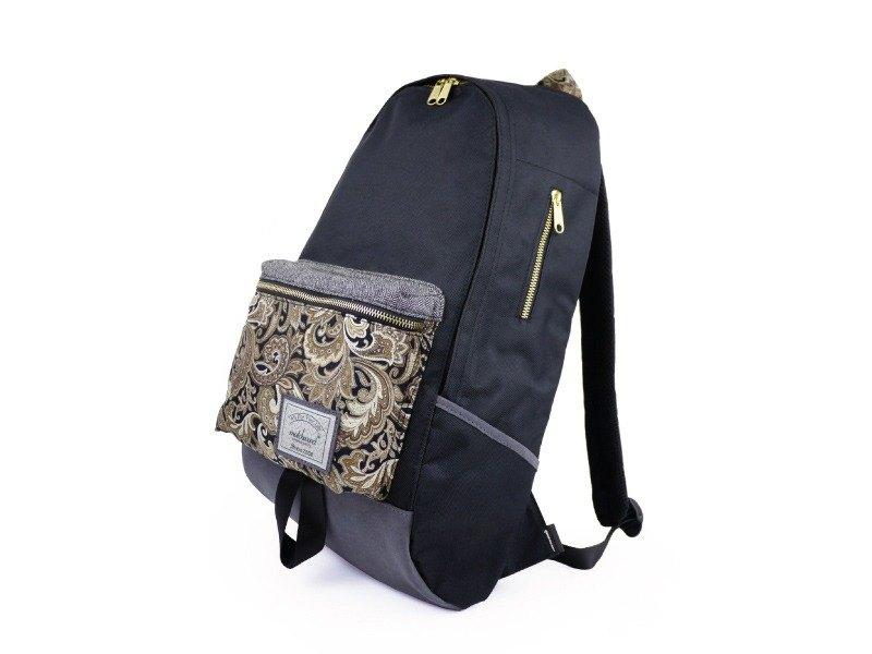 火柴木設計 Matchwood Infantry 防水筆電後背包 旅行包 登山包 後背包 17吋筆電夾層 黑金雕花款(限量)