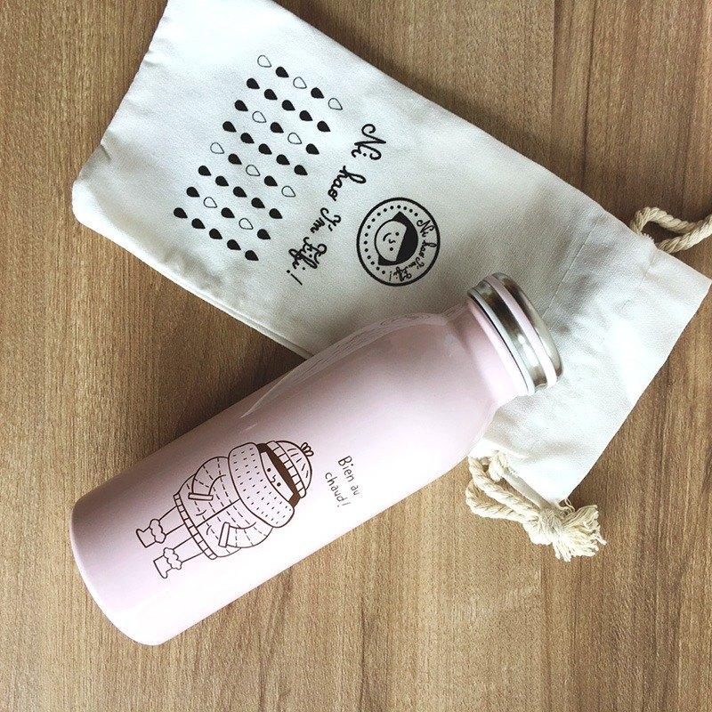 FiFi牛奶保溫瓶450ml-粉紅色