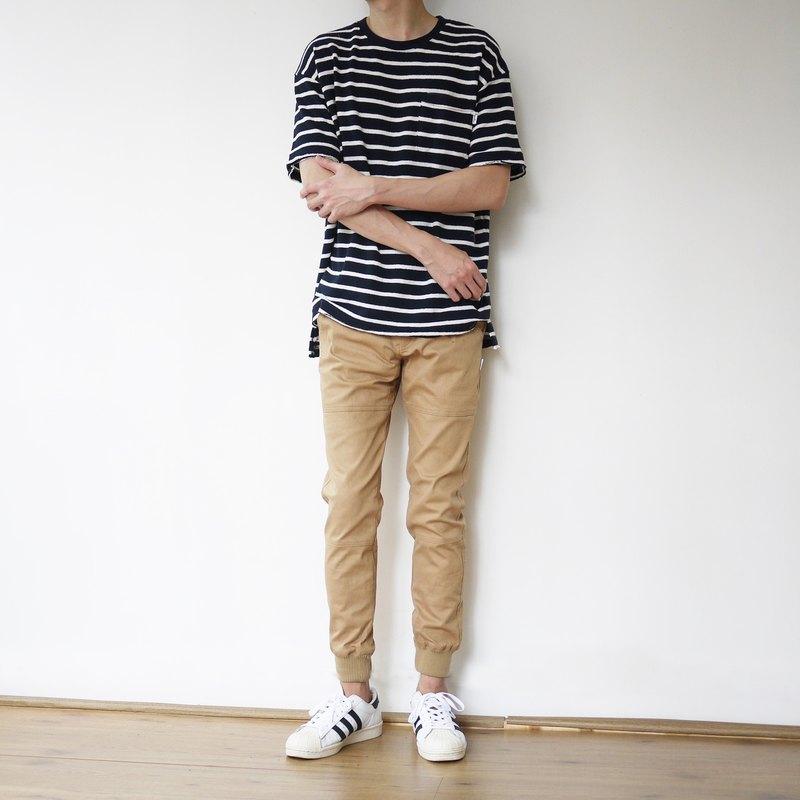 Stripes Pocket Tee 條紋圓領口袋Tee/中性/情侶服