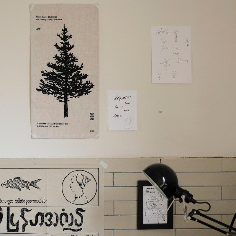 Christmas tree cloth poster