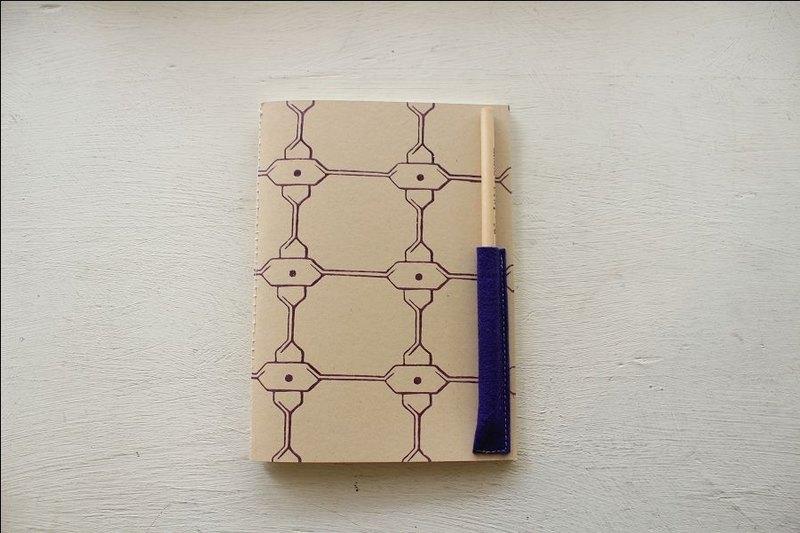 【ZhiZhiRen】厵 | 車縫線筆記本 - 鹽程鐵窗-紫