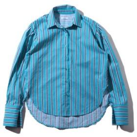 アトモスピンク atmos pink シャツ ストライプ シャツ TX (BLUE) 19FA-I