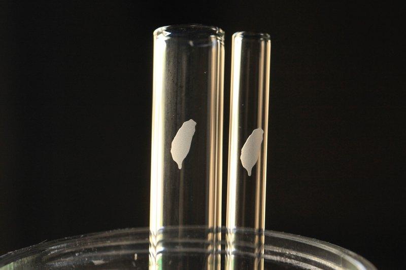 客製 【買1送1】台灣 玻璃吸管 愛台灣 手工精緻 禮品 SGS檢驗合格