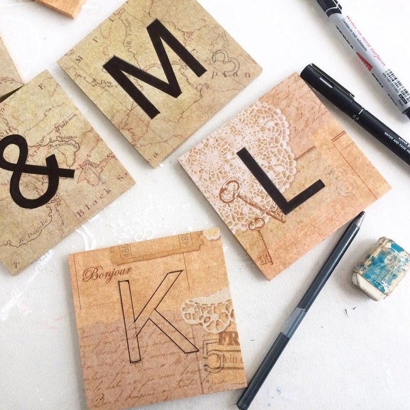 度身訂造 - 婚禮木製拼詞遊戲英文字母裝飾