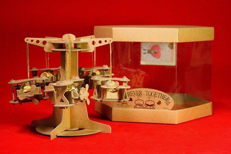 [巧克力遊樂園] 金莎迴轉飛機禮盒(含金莎款) / 情人節 聖誕節 畢業禮品 生日禮物 交換禮物首選