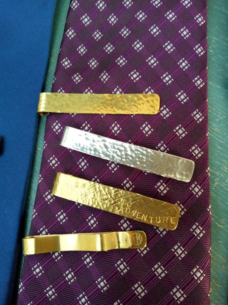 手工質感系列- 純銀/黃銅領帶夾