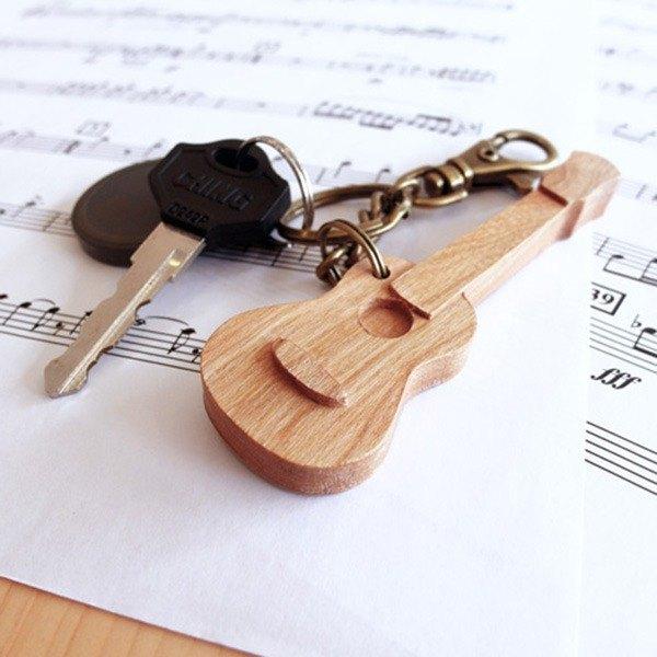 【樂器系列】烏克麗麗 Ukulele  //  櫻桃木製 鑰匙圈 掛件 吊飾