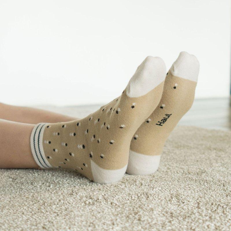 Bobbi in beige  -  Crew Socks