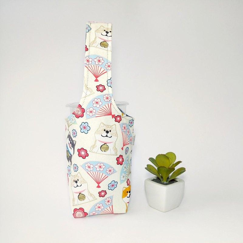 【柴柴過新年-白】雙面飲料杯套 冰霸杯套 環保杯套 水壺袋 禮物