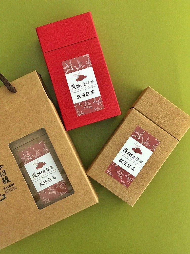 漫DAY生活茶日月潭紅玉紅茶—茶葉密封袋 75g*2 精裝禮盒