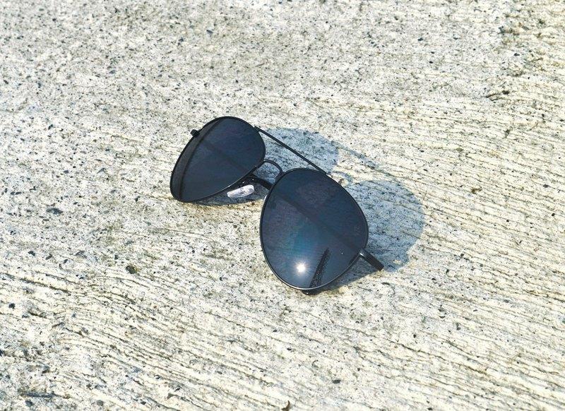 2is K8 太陽眼鏡│飛行員墨鏡│金屬框架│黑色鏡片│抗UV400
